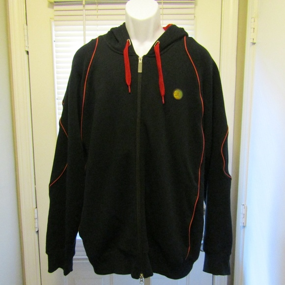 169717db75d Jordan Jackets & Coats | Nike Air Jacket Xl Black Red Hoodie Zip Up ...